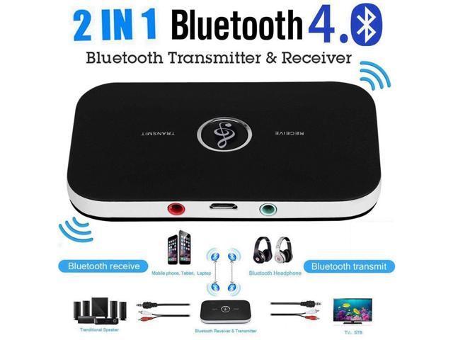 3.5mm Bluetooth 4.1 Transmitter /& Receiver Wireless A2DP Audio Aux Adapter Hub