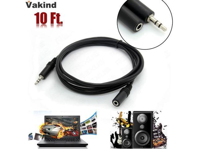 """10ft 3.5mm 1//8/"""" Stereo Audio Aux Headphone Extension Cable Cord Male to Female e"""