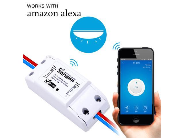 Sonoff Wifi Switch Wireless Remote Control Electrical for Household  Appliances,Compatible with Alexa DIY Your Home Via Iphone Android App -  Newegg com