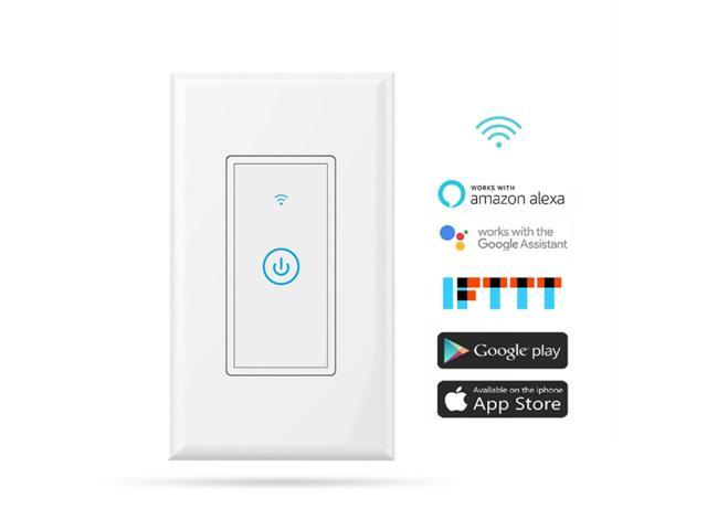 Meross MSS510 WiFi Remote Control Smart Wall Switch Works with Amazon Alexa  & Google Assistant - Newegg com