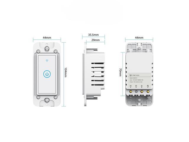 Meross MSS510 WiFi Remote Control Smart Wall Switch Works with Amazon Alexa  & Google Assistant - Newegg com