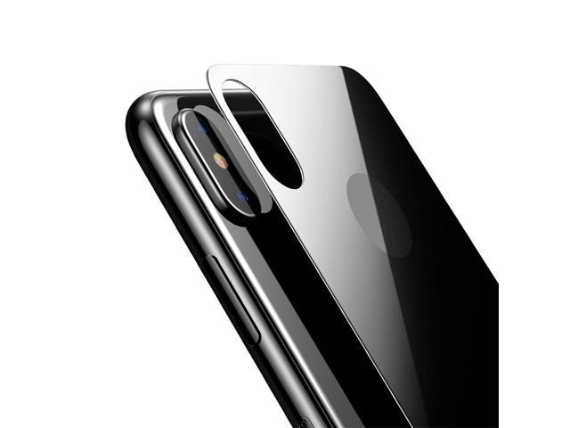 innovative design f42f2 14527 Baseus for iPhone X 9H Hardness 3D Silk-screen Anti-scratch Tempered Glass  Back Screen Film(Black) - Newegg.com