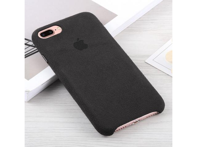outlet store a6a93 a3bc4 Alcantara + PC Suede Protective Back Cover Case for iPhone 8 Plus & 7 Plus  (Black) - Newegg.com