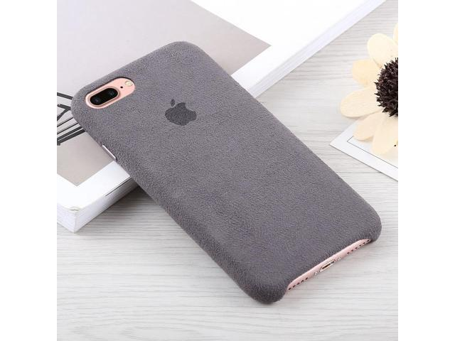 newest 903c4 0ba64 Alcantara + PC Suede Protective Back Cover Case for iPhone 8 Plus & 7 Plus  (Grey) - Newegg.com