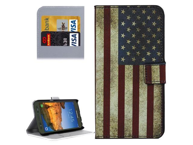 online retailer efd2e d3ca5 For Galaxy S7 Active US Flag Pattern Leather Case with Holder & Card Slots  & Wallet - Newegg.com