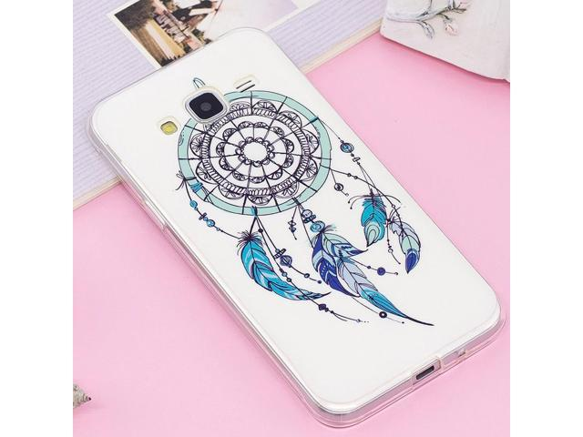 For Galaxy J3 (2016) / J310 Noctilucent IMD Feather Dream Catcher Pattern Soft TPU