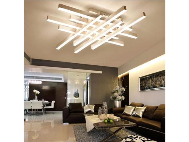 Creative Rectangular Bedroom Warm Living Room Simple Modern Led Ceiling Light 44 Heads Size 102 X 80 X 12cm White Light