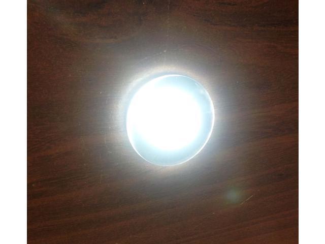 # 2 PCS MARINE BOAT LED LIVEWELL ROUND BUTTON BLUE COURTESY LIGHT OEM WATERPROOF