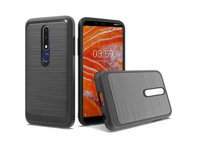 the best attitude 289a3 b9305 Nokia 3.1 Plus Case, by Insten Design Edged Lining Dual Layer [Shock  Absorbing] Hybrid Brushed Hard Plastic/Soft TPU Rubber Case Cover For Nokia  3.1 ...
