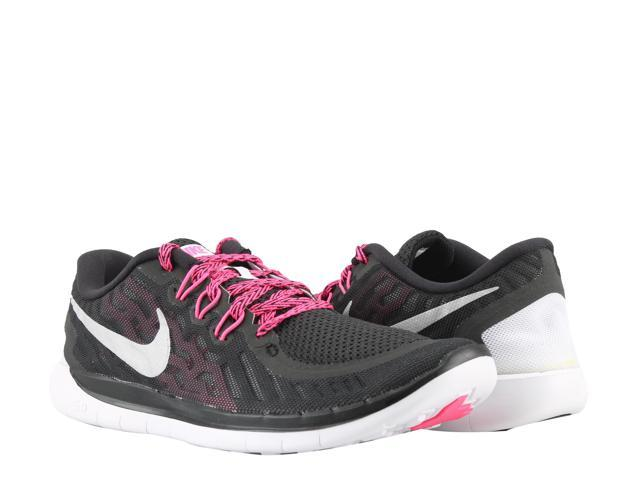 sports shoes ed697 e0678 Nike Free 5.0 (GS) Black Pink-Metallic Silver Girls  Running Shoes  725114-006 Size 6