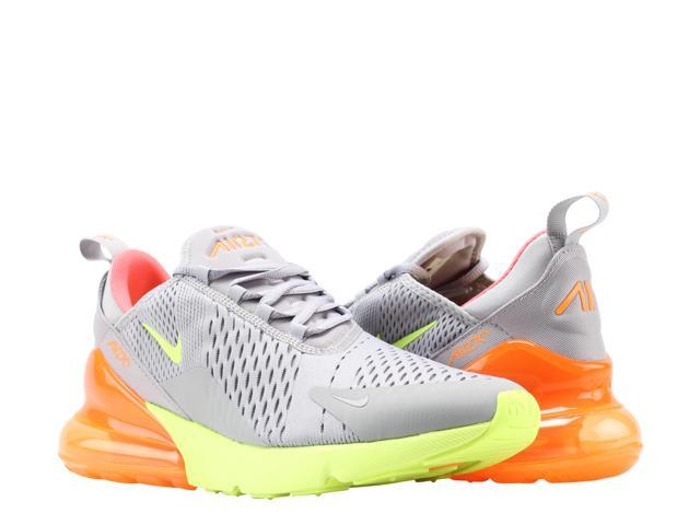 Nike Air Max 270 GreyVolt Orange Hot Punch Men's Lifestyle Shoes AH8050 012 Size 10