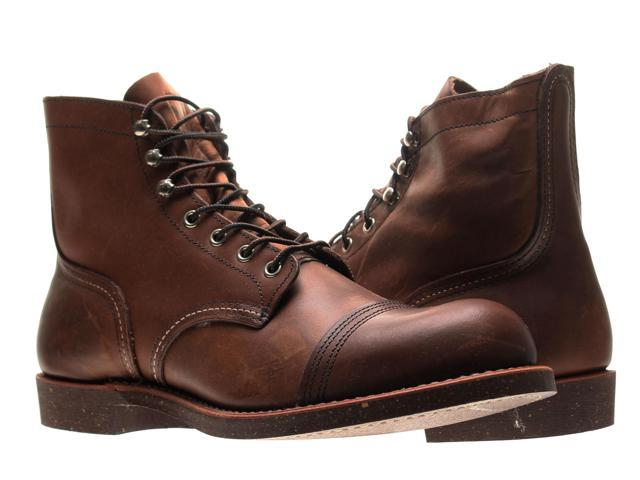 6f6f0a6a146 Red Wing Heritage 8111 Iron Ranger 6-Inch Cap Toe Amber Mens Boots 08111  Size 7D - Newegg.com
