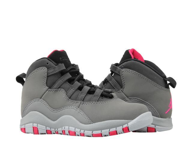 cheap for discount 3c2d5 90ac5 Nike Air Jordan 10 Retro (PS) Dark Shadow Grey Little Kids Basketball Shoes  487212-006 Size 2 - Newegg.com