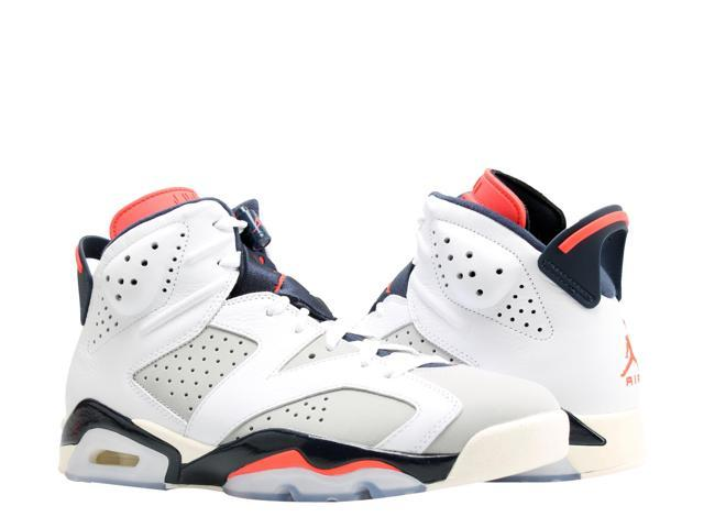 hot sale online a2a35 33108 Nike Air Jordan 6 Retro Tinker White/Infrared Men's Basketball Shoes  384664-104 Size 10 - Newegg.com