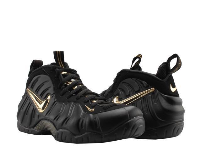 cheap for discount 33c03 35ddc Nike Air Foamposite Pro Black/Metallic Gold Men's Basketball Shoes  624041-009 Size 8.5 - Newegg.com