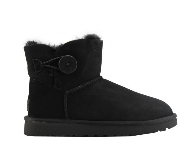 70619cae35e UGG Australia Mini Bailey Button ll Black Women's Boots 1016422-BLK Size 8  - Newegg.com