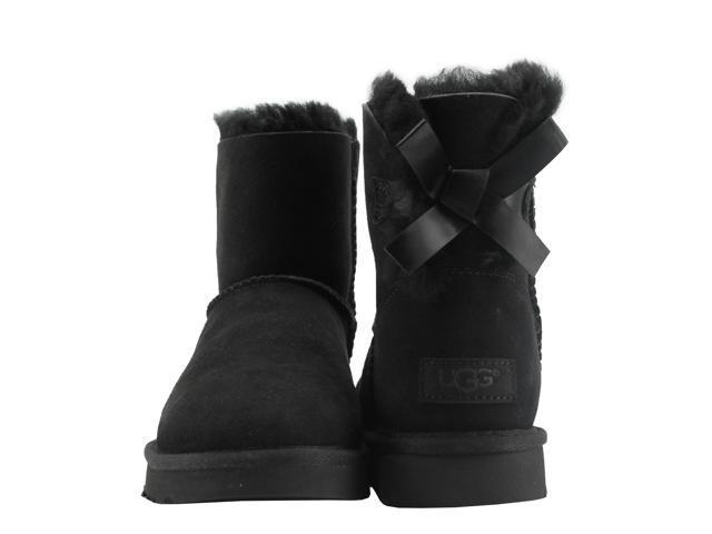44fba0d20d00 UGG Australia Mini Bailey Bow II Black Women's Boots 1016501-BLK Size 8