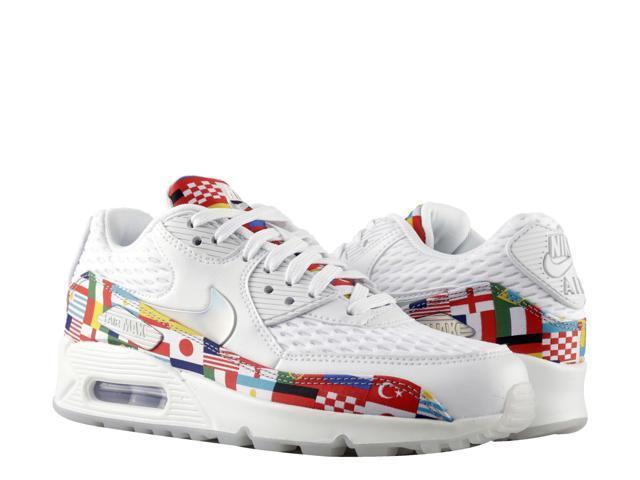 super popular b70cd 38291 Nike Air Max 90 NIC QS International Flag Men's Running Shoes AO5119-100  Size 4 - Newegg.com