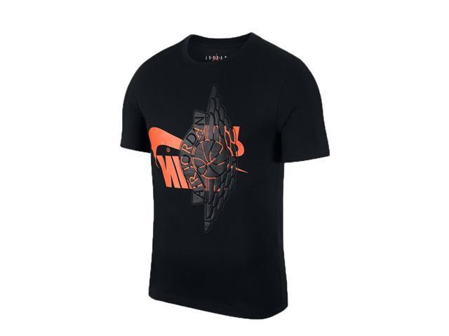 3d8b7fd4669953 Nike Air Jordan Futura Wings Black Infrared 23 Men s T-Shirt AO0601 ...