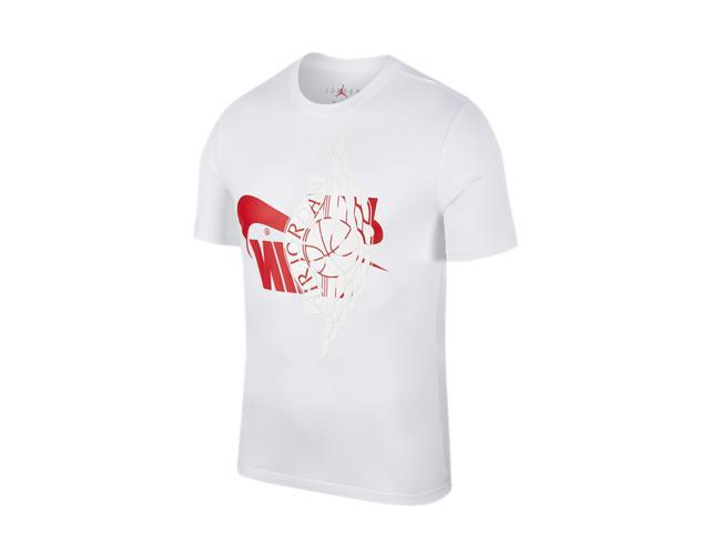 289fa3a8 Nike Air Jordan Futura Wings White/Red Men's T-Shirt AO0601-100 X Skip  Image Gallery