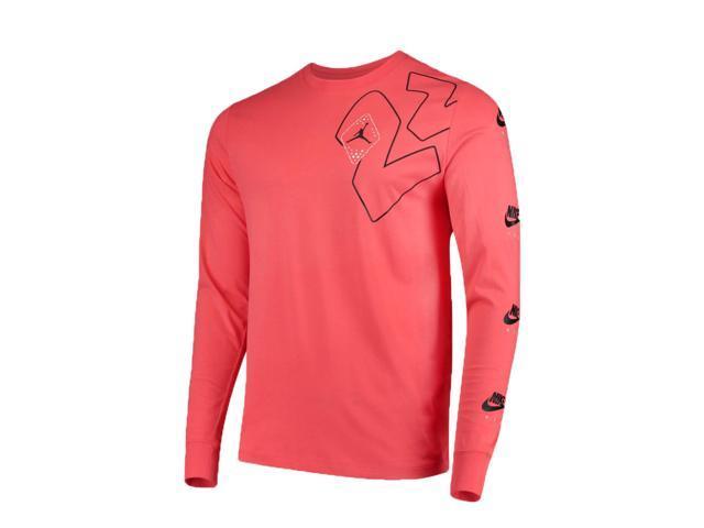 b01525751872 Nike Air Jordan Legacy AJ 6 Long-Sleeve Ember Glow Men s T-Shirt BV5407