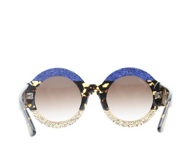3f6ff27eb Gucci GG 0084S Blue/Avana/Brown Women's Sunglasses GG0084S-002 - Newegg.com