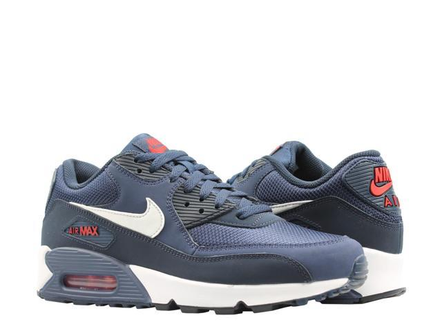 Mens Womens Shoes Nike Air Max 90 Essential White Grey Black Infrared 537384 126 537384 126