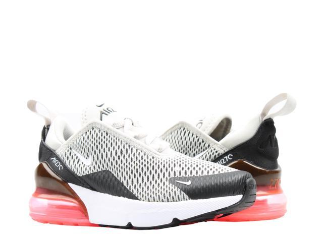 Nike Air Max 270 (PS) Light BoneWhite Blk Little Kids Running Shoes AO2372 002 Size 13