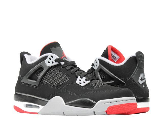 best website 3a449 4de94 Nike Air Jordan 4 Retro (GS) Bred Big Kids Basketball Shoes 408452-060 Size  6