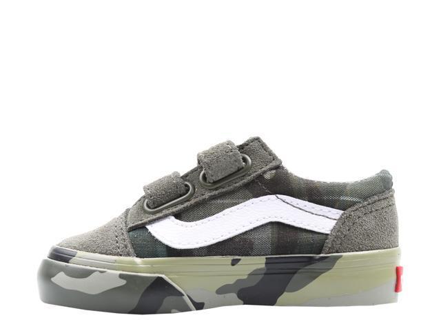 Vans Old Skool V Plaid Camo Toddler Kids Low Top Sneakers VN0A344KVDZ Size 8.5