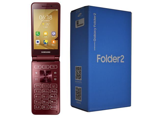 Samsung Galaxy Folder 2 SM-G1650 16GB Android Flip (No CDMA, GSM only)  Factory Unlocked 4G/LTE Smartphone - Wine Red - Newegg com