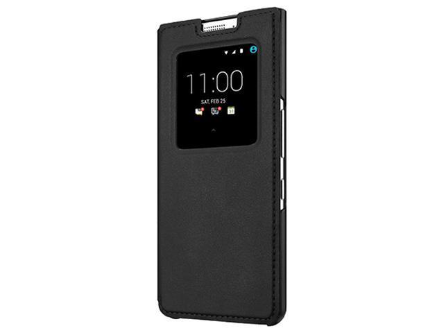 brand new 6a0cf c3af5 BlackBerry KEYone Smart Leather Flip Case Wallet Cover for BlackBerry  KEYone Smartphone - Black - Newegg.com