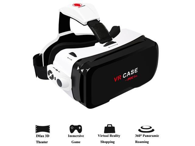 3d Vr Headset Werleo 360 Virtual Reality Glasses Video Games 3d Movie Glass Vr Box With Bluetooth Remote Controller Goggles Cardboard For Android Samsung Galaxy Iphone 7 Plus 6s 4 0 6 0 Smartphone
