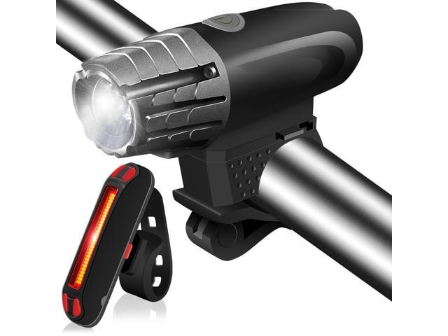 USB Rechargeable Front Lights and Back Rear LED For Bicycle Cycling 5Mode Bright