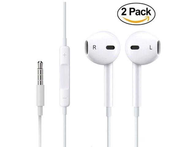 2 Pack Apple Earbuds Earphones With Microphone And Remote Control Wired Headphones 3 5mm Jack Ear Buds For For Iphone Ipad Ipod Samsung Galaxy And Android Cell Phones Apple Earbuds Earphones With Mic