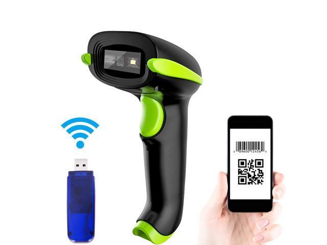 Werleo 2D Wireless Barcode Scanner 2-in-1 433Mhz wireless & USB 2 0 Wired  1D QR PDF417 Data Matrix Bar Code Scanner Cordless CMOS Image Barcode  Reader