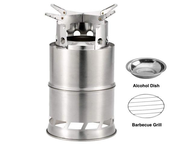 Alcohol Stove Stainless Steel Outdoor Small Lightweight Cooking Portable