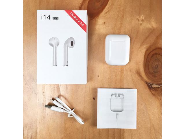 383b3f66528 i14 TWS Wireless Bluetooth 5.0 Earphone Earbuds Touch Control For iPhone  Xiaomi airdot