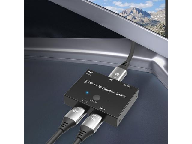 DP DisplayPort 1.4 Bi-Direction Switch Splitter Converter MST Hub 8K A