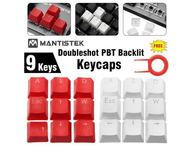 DIY WASD Direction Keys Caps Double Color Injection Molding PBT