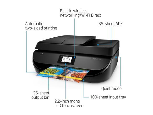 HP OfficeJet 4650 Wireless All-in-One Photo Printer with Mobile Printing,  Instant Ink ready, Black - Newegg com