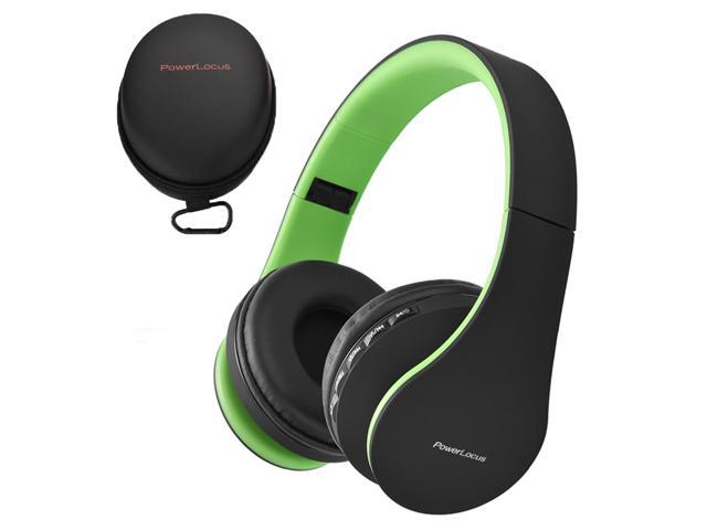 Powerlocus Bluetooth Over Ear Wireless Headphones Foldable Fm Micro Sd Tf Aux Mode Built In Mic For Iphone Ipad Android Pc Mac Black Green Newegg Com