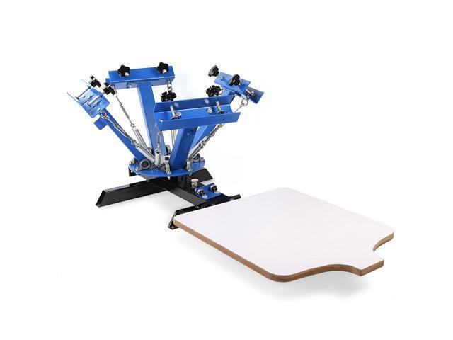 VEVOR Screen Printing Machine 1 Station 4 Color Screen Printing for T-shirt  DIY Screen Printing Press Silk Screen Removable Pallet - Newegg com