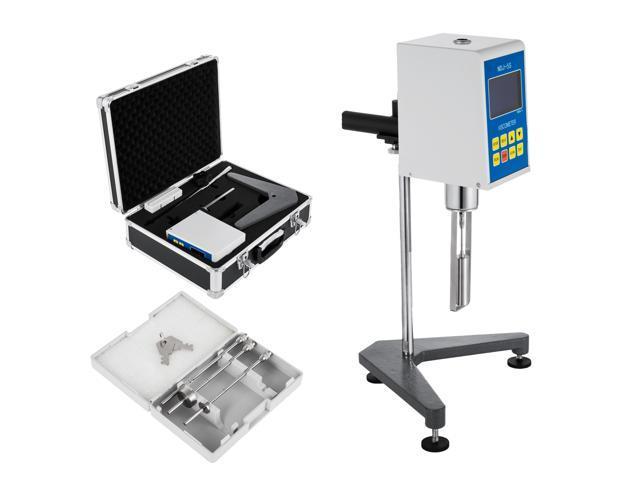 VEVOR Digital Viscometer 1-100000 mPa s Digital Rotary Viscometer NDJ-5S  Fluidimeter Tester Meter Accuracy Plus or Minus 2% Newton Liquid Viscometer