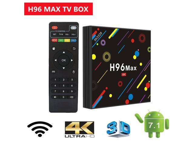 Original H96 MAX H2 Android 7 1 TV Box Bluetooth 4 0 H96 Plus H2 4G 32G Set  Top Box RK3328 Wifi BT 4K H 265 Media Player - Newegg com