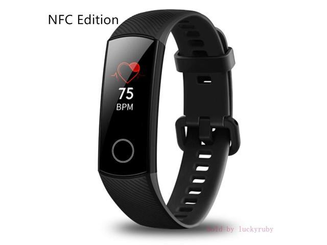 Huawei Honor Band 4 6-Axis Inertial Heart Rate Monitor Infrared Light Wear  Detection Sensor Full Touch AMOLED Color Screen Home Button All-in-One