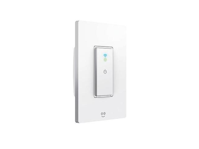 Geeni Tap Smart Wi Fi Light Switch No Hub Required Compatible With Alexa Google Assistant And Microsoft Cortana Neutral Wire Required White Newegg Com