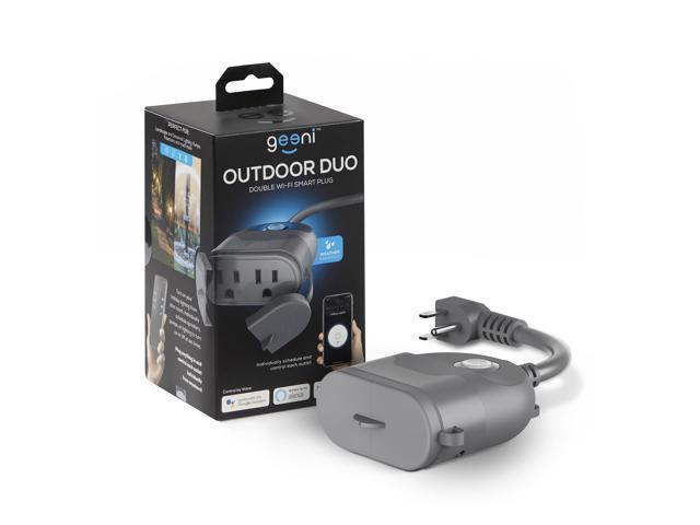 Geeni Outdoor Smart Plug, Weatherproof WiFi Outdoor Smart Outlet with 2  Sockets - No Hub Required, Outdoor Smart Plugs Works with Alexa Google  Cortana