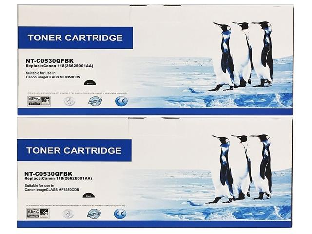 3,400 Pages Ea. OEM Canon imageCLASS MF8380CDW Black Toner Cartridge 2Pack