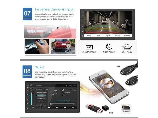 ML-CK1018 7 0 Inch 2-DIN Car Multimedia Player Bluetooth4 0 Built-in GPS  Navigator FM Station WiFi Connection - Black - Newegg com